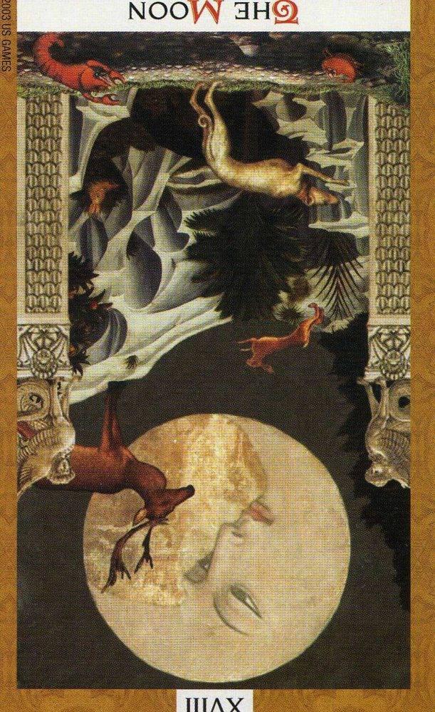 Луна таро тота: общее значение и описание карты