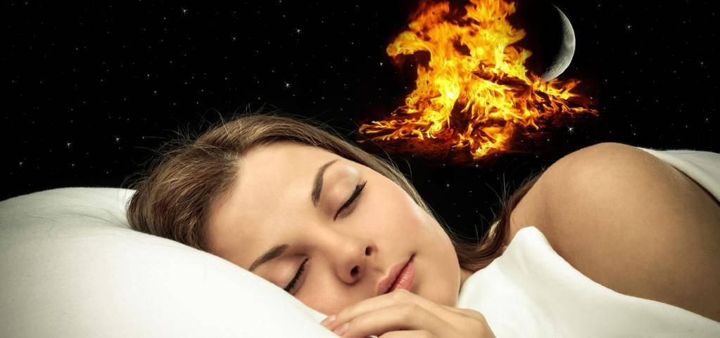 Пожар ночью