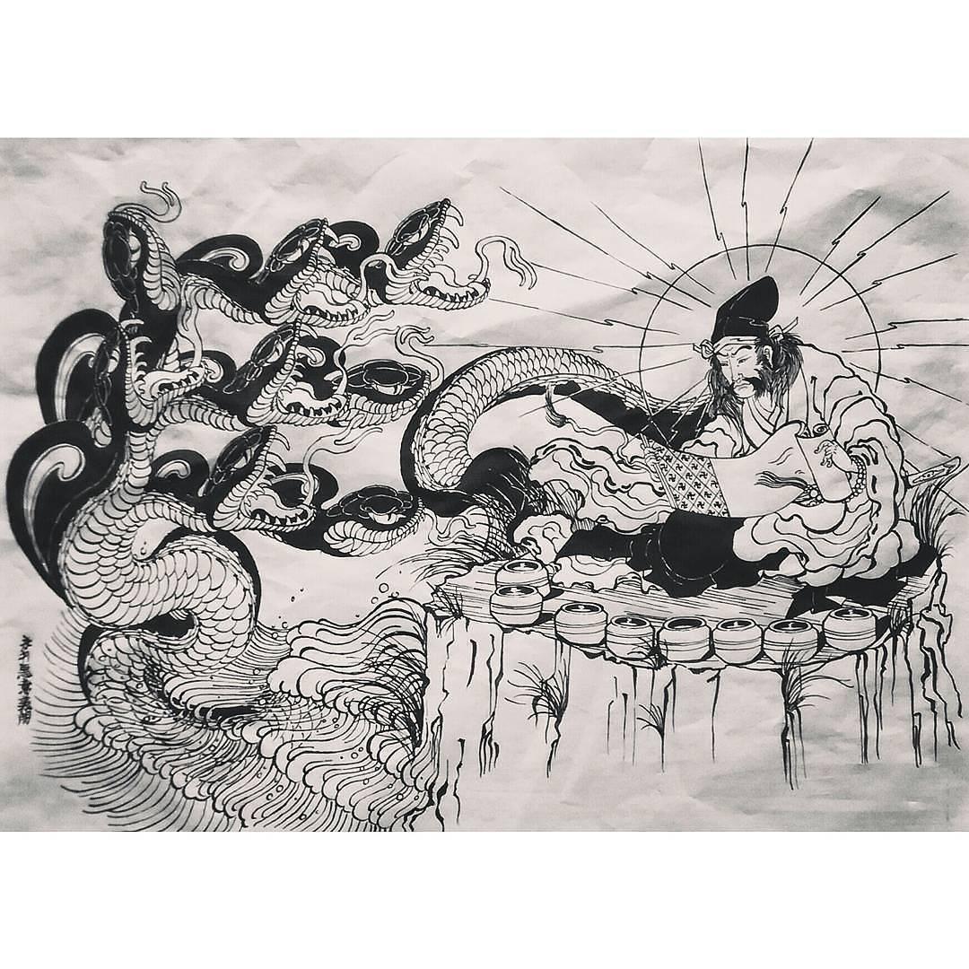 Японские драконы: ямата но ороти; ватацуми; рю во