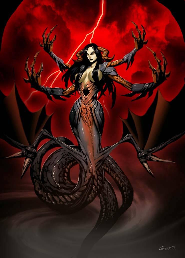 Ехидна — мать чудовищ из греческих мифов