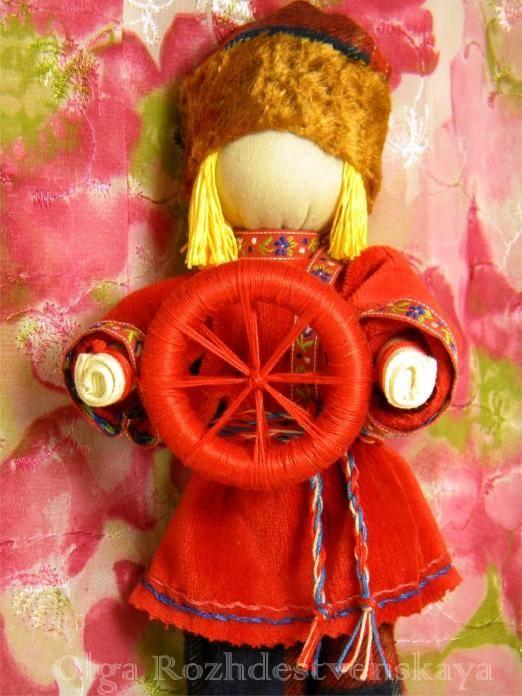 Славянская кукла спиридон-солнцеворот - энергия любви