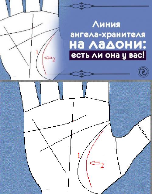 Линия ангела хранителя на правой руке. что означает линия ангела хранителя (марса) на руке