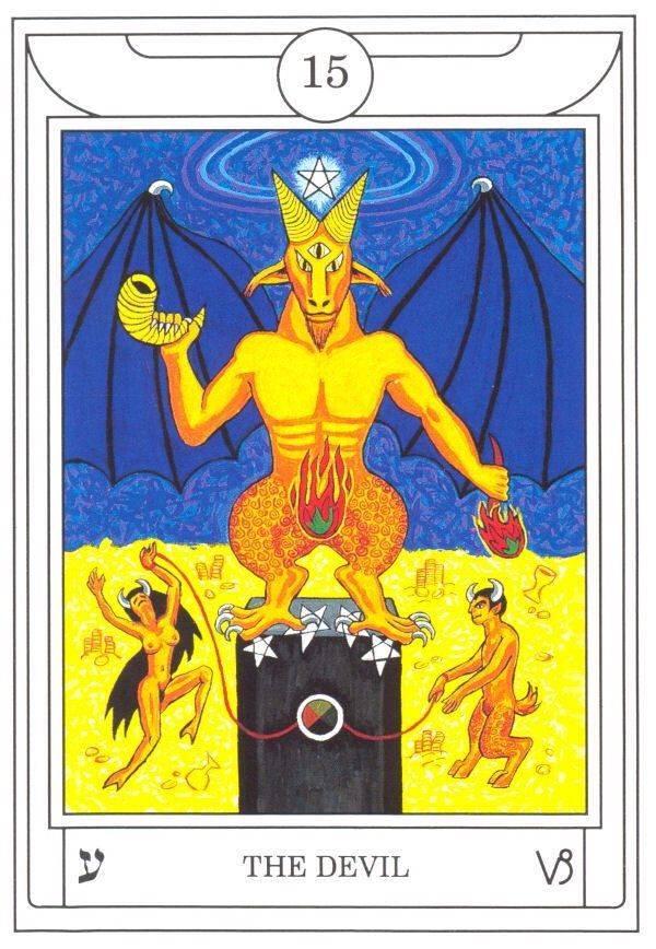 Дьявол 15 аркан значение карты в таро