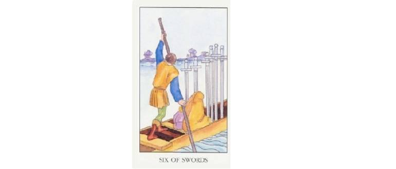 6 мечей таро тота: общее значение и описание карты