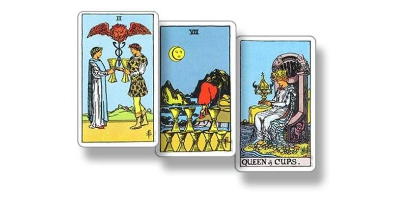 Королева кубков - значение карты таро
