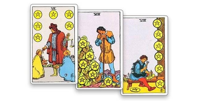 4 (четвёрка) пентаклей (монет) в картах таро: значение в любви, работе, здоровье