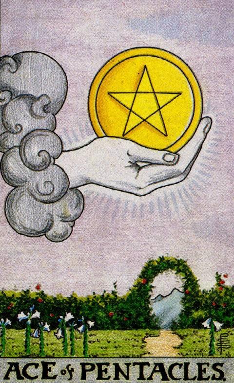 Туз пентаклей (монет) таро: значение в отношениях, любви, здоровье, работе