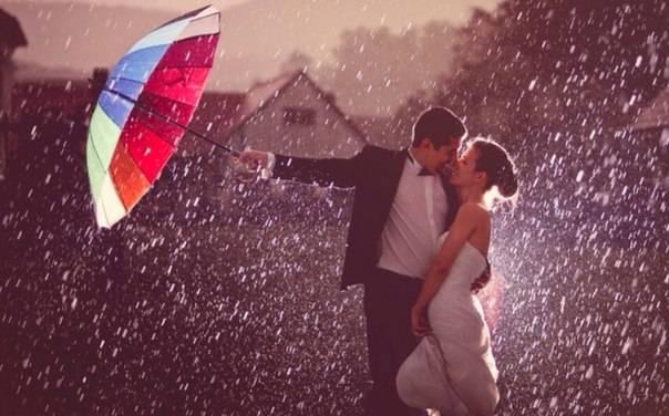Свадьба в дождь: о чем говорит примета