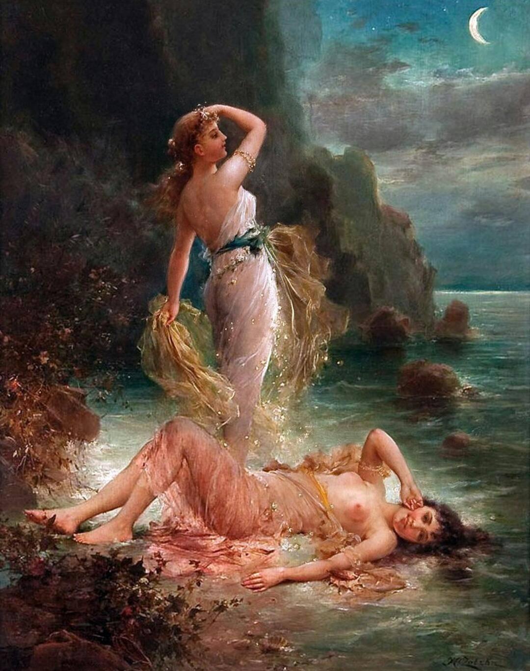 Наяды в мифологии — прекрасные нимфы живущие в водоемах