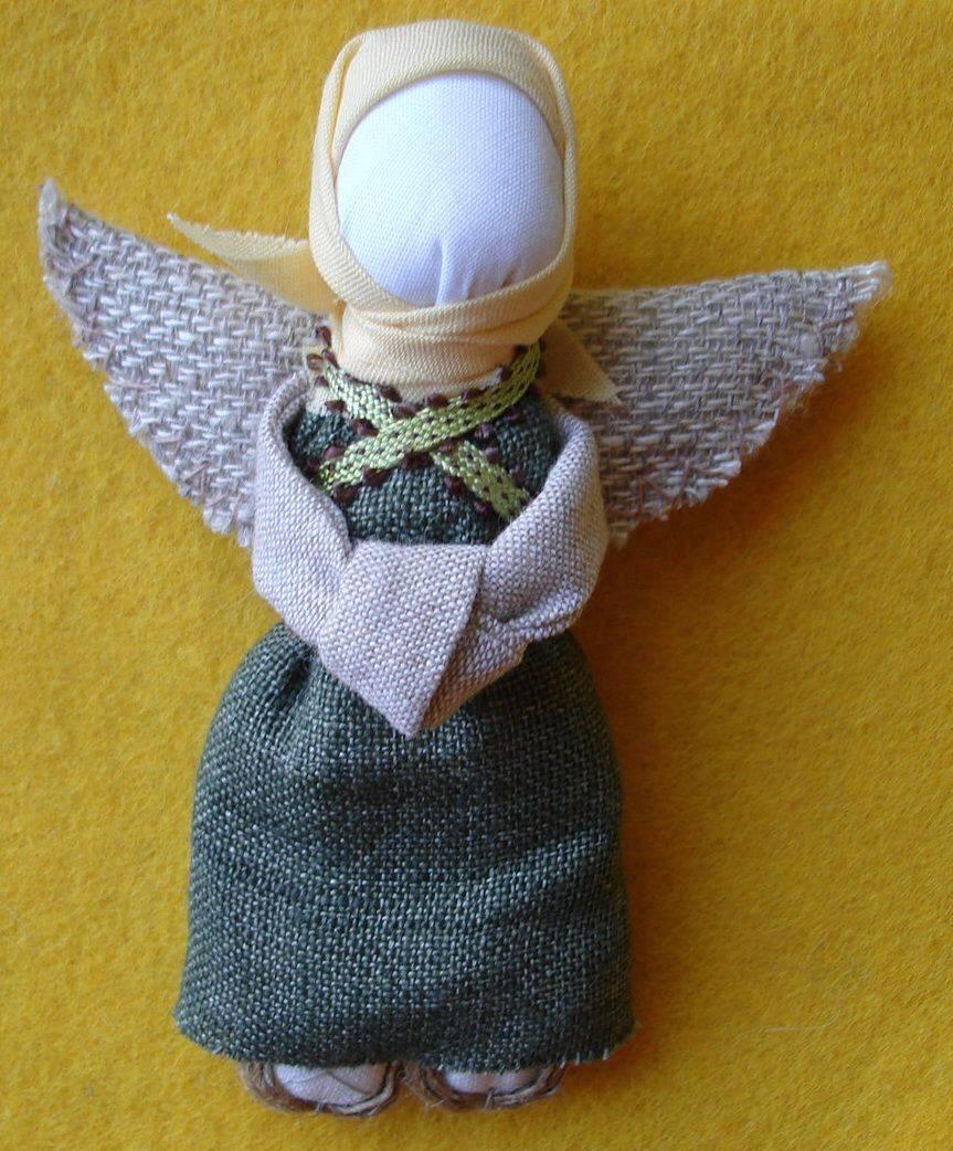 Кукла ангел: куклы на новый год своими руками из капрона, ткани и ниток, куклы скрутки