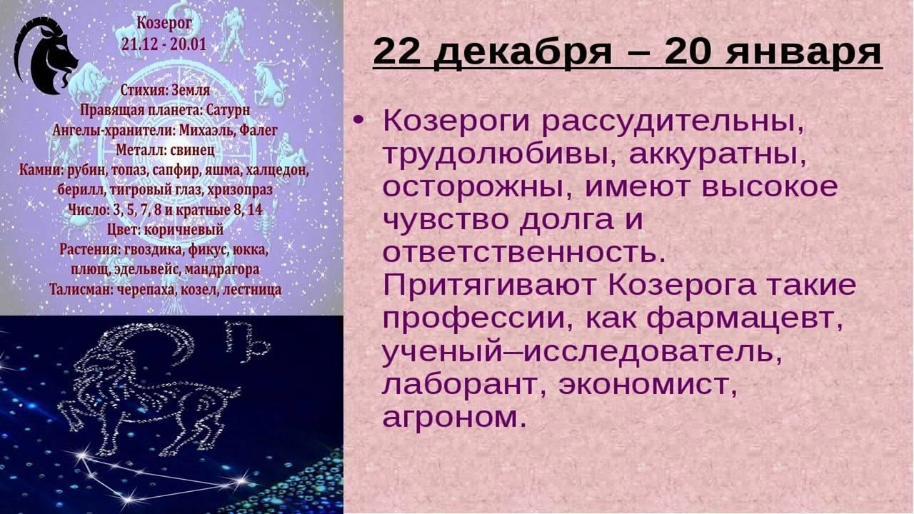 Козерог - характеристика знака зодиака
