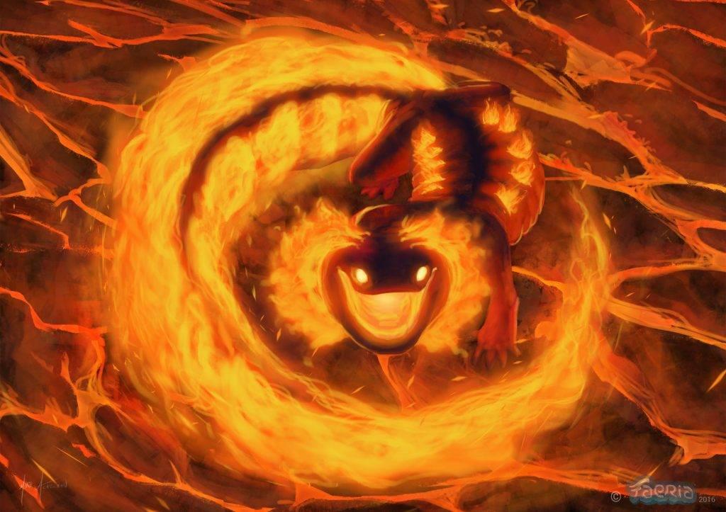 Саламандра — огненный элементаль и легендарная ящерка