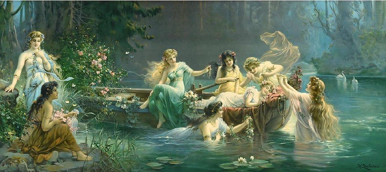 Наяда. наяды — обитательницы пресных водоемов древней греции любовь аида и менты