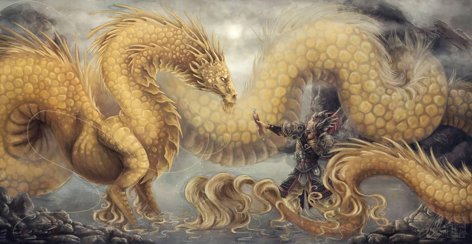 Значение драконов в китайской мифологии, внешний вид и традиции с ними связанные (3 фото + видео)