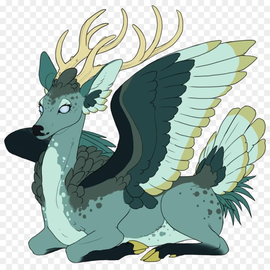 Перитон — крылатый олень-хищник из Атлантиды