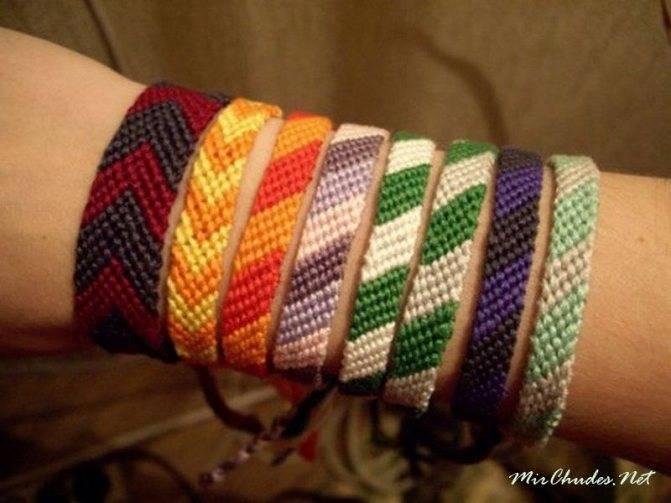 Как научиться плести браслеты из ниток: схемы для плетения фенечек своими руками