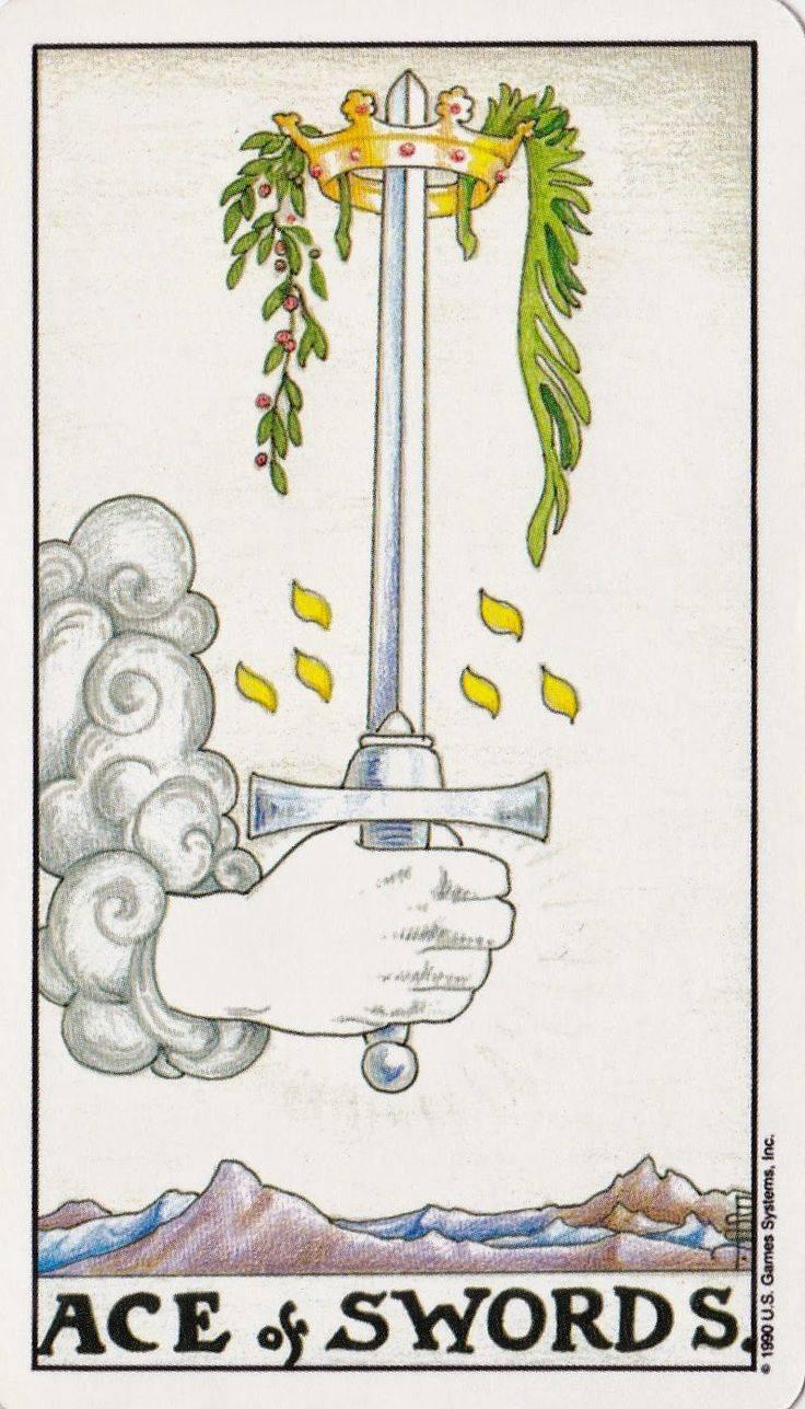 Туз мечей - значение карты таро