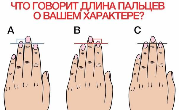 О чем говорит форма пальцев человека
