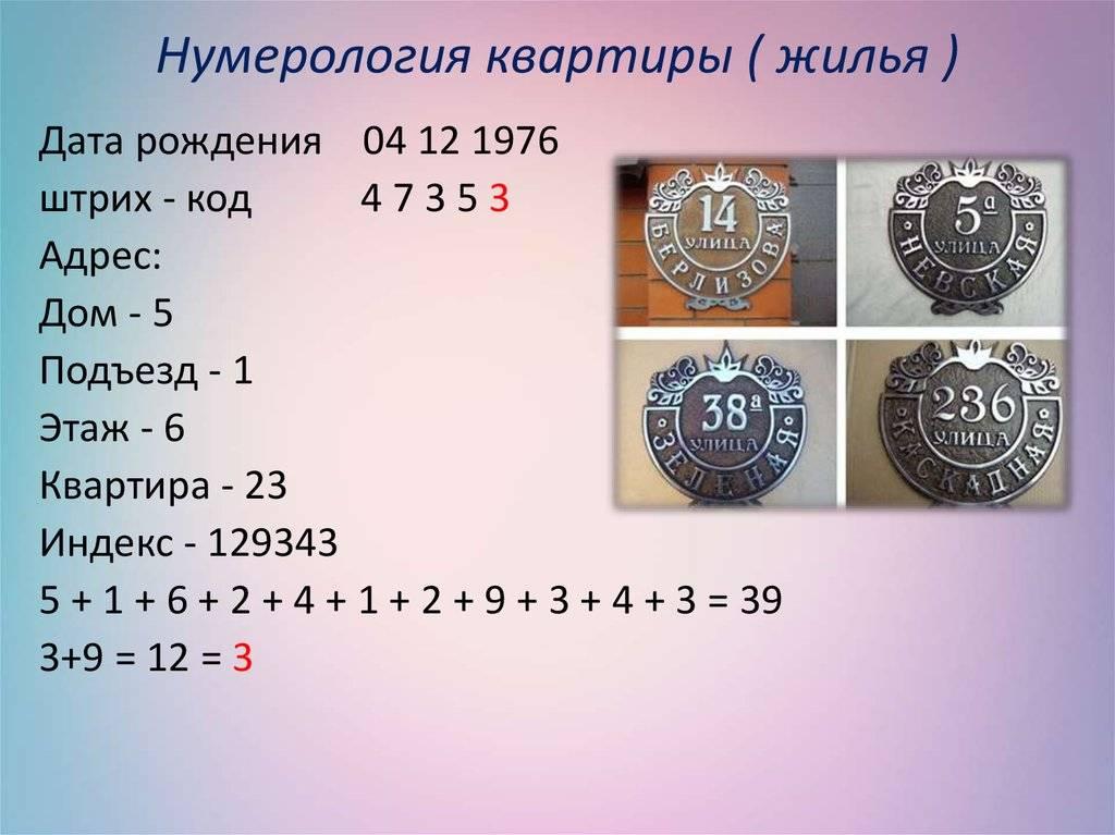Нумерология квартиры: магия чисел - как рассчитать число квартиры