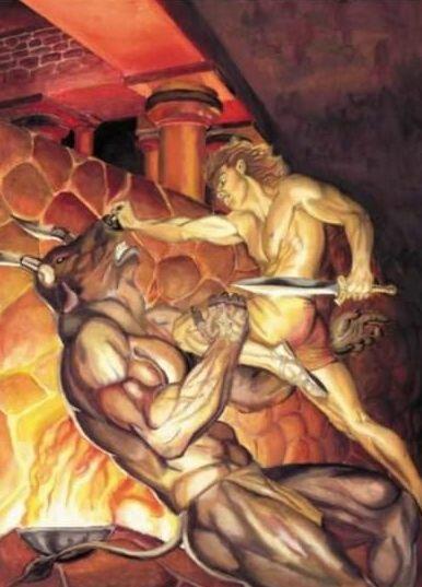 Минотавр в греческой мифологии - чудовище из критского лабиринта
