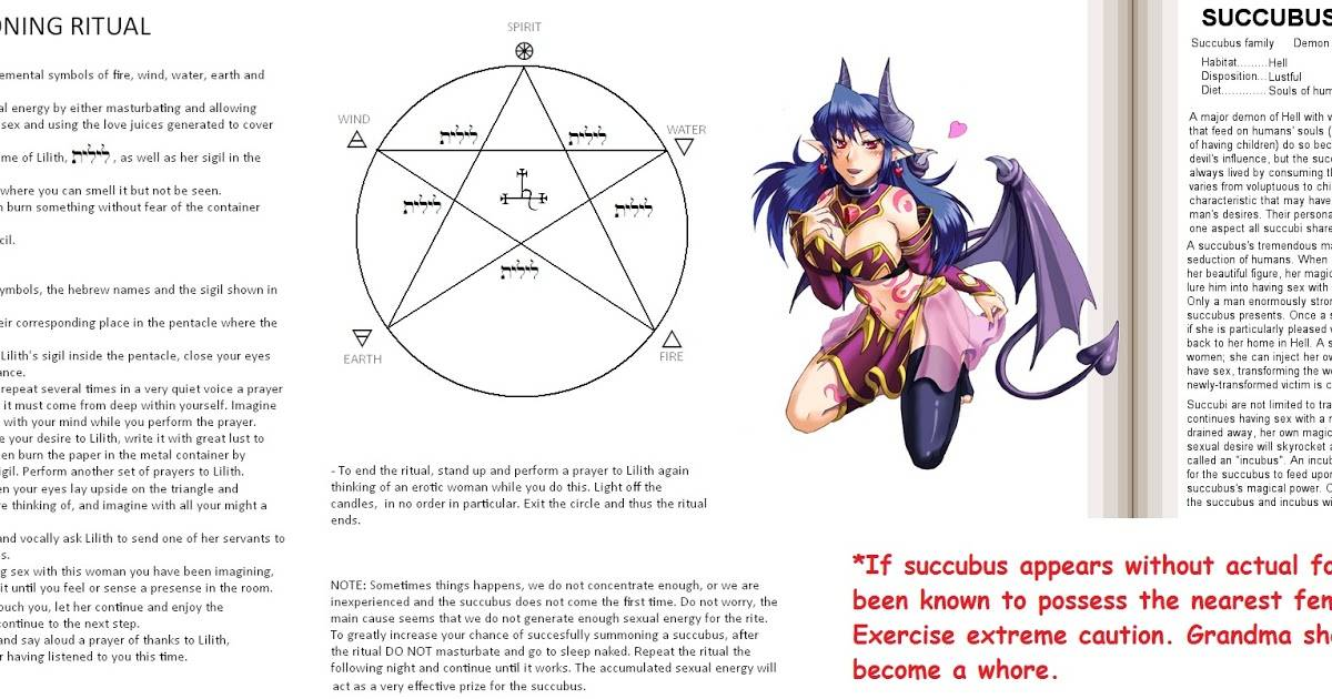 Суккуб— демон отнимающий энергию, его история и описание + как вызвать суккуба