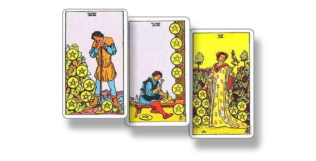 8 (восьмёрка) пентаклей (монет,) в картах таро: значение в отношениях