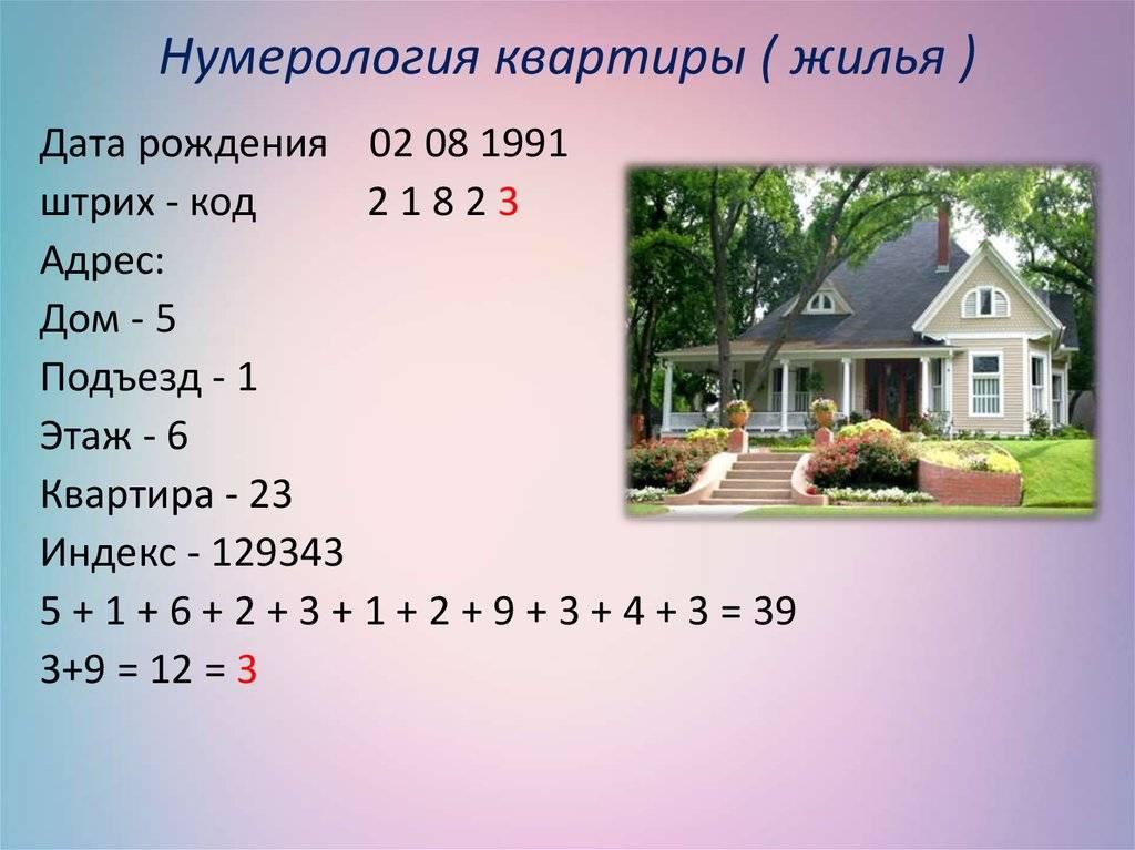 Нумерология вашего адреса: а ваш  дом счастливый для вас? :: инфониак