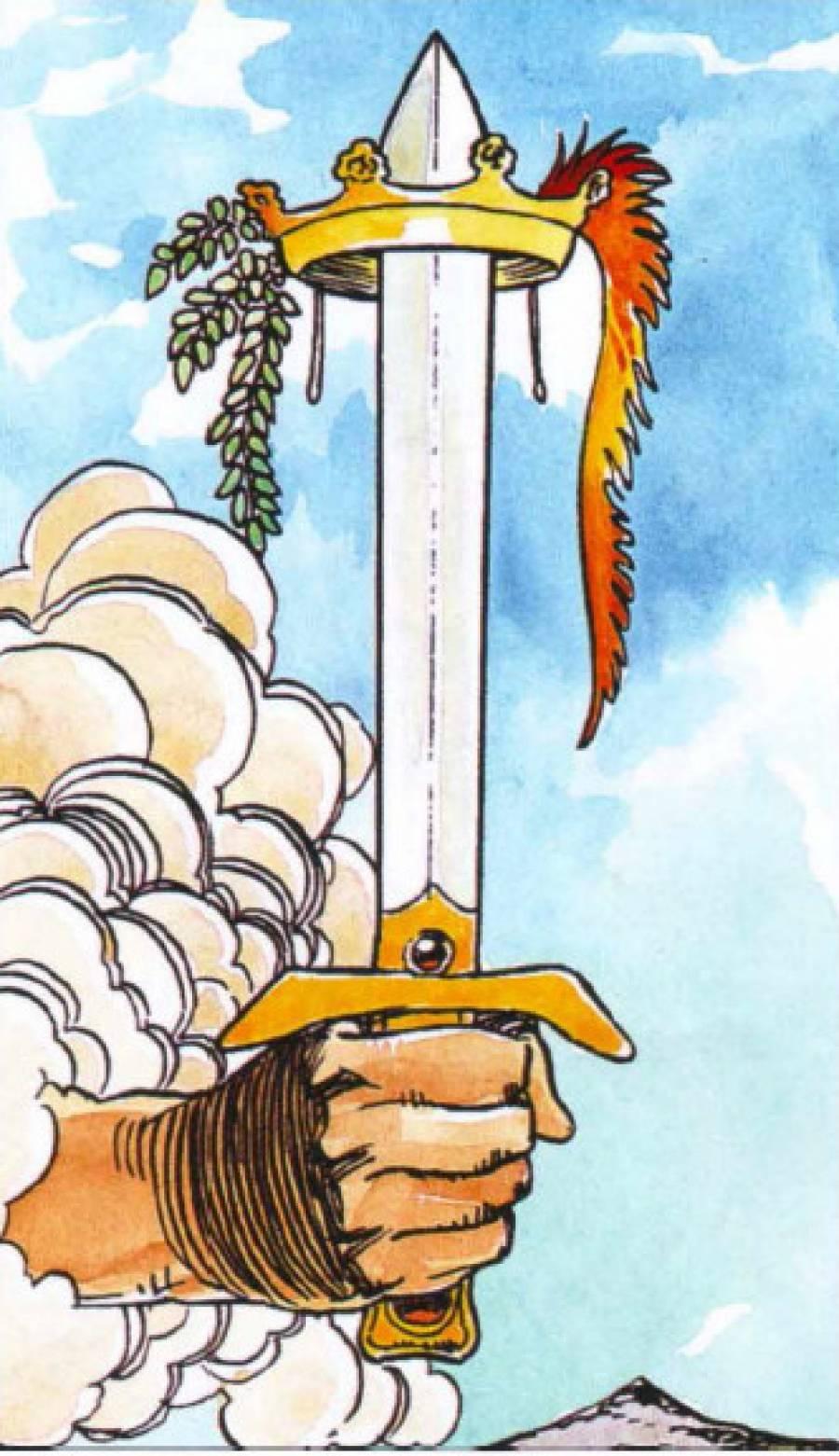 Карта таро туз мечей - значение, толкование и расклады в гадании