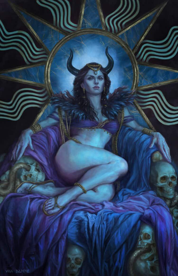 Демоница касикандриэра — королева ада и супруга люцифера | магия любви