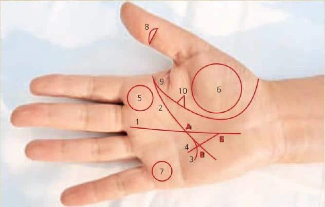 Редкие знаки на руке - их толкование и значение в хиромантии