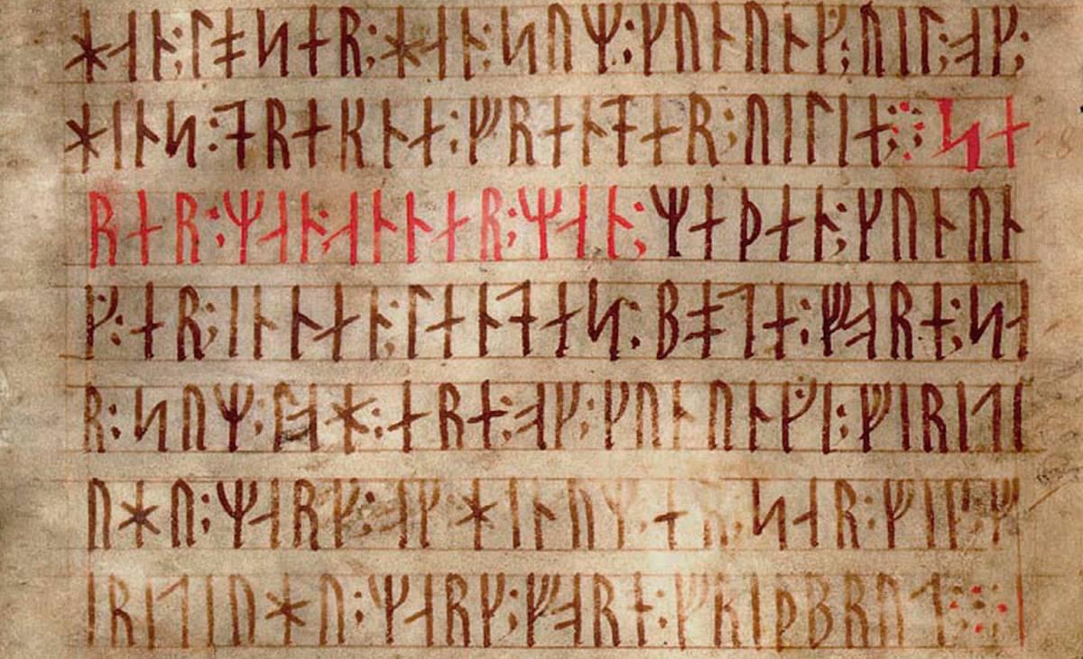 Древнерусские руны. найдено возможное доказательство существования нашей рунической письменности