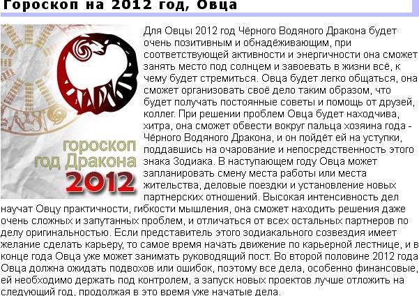 Гороскоп на февраль 2012 года