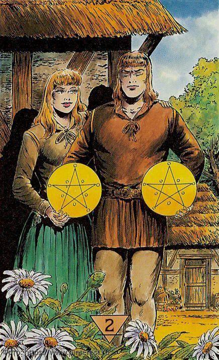 Значение карты таро — 3 пентаклей (монет)