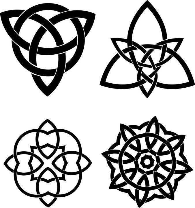 Кельтские тату: узоры, узел - полное описание с фото и эскизами