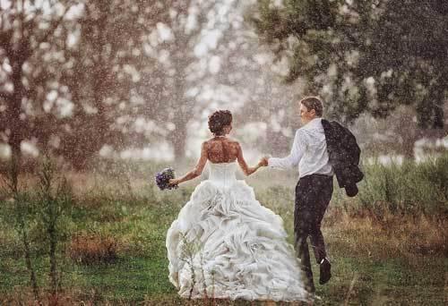 Что по приметам означает дождь в день свадьбы