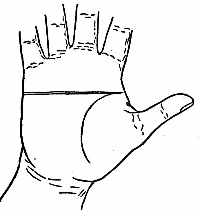 Остров и ромб на линии ума: значение символов