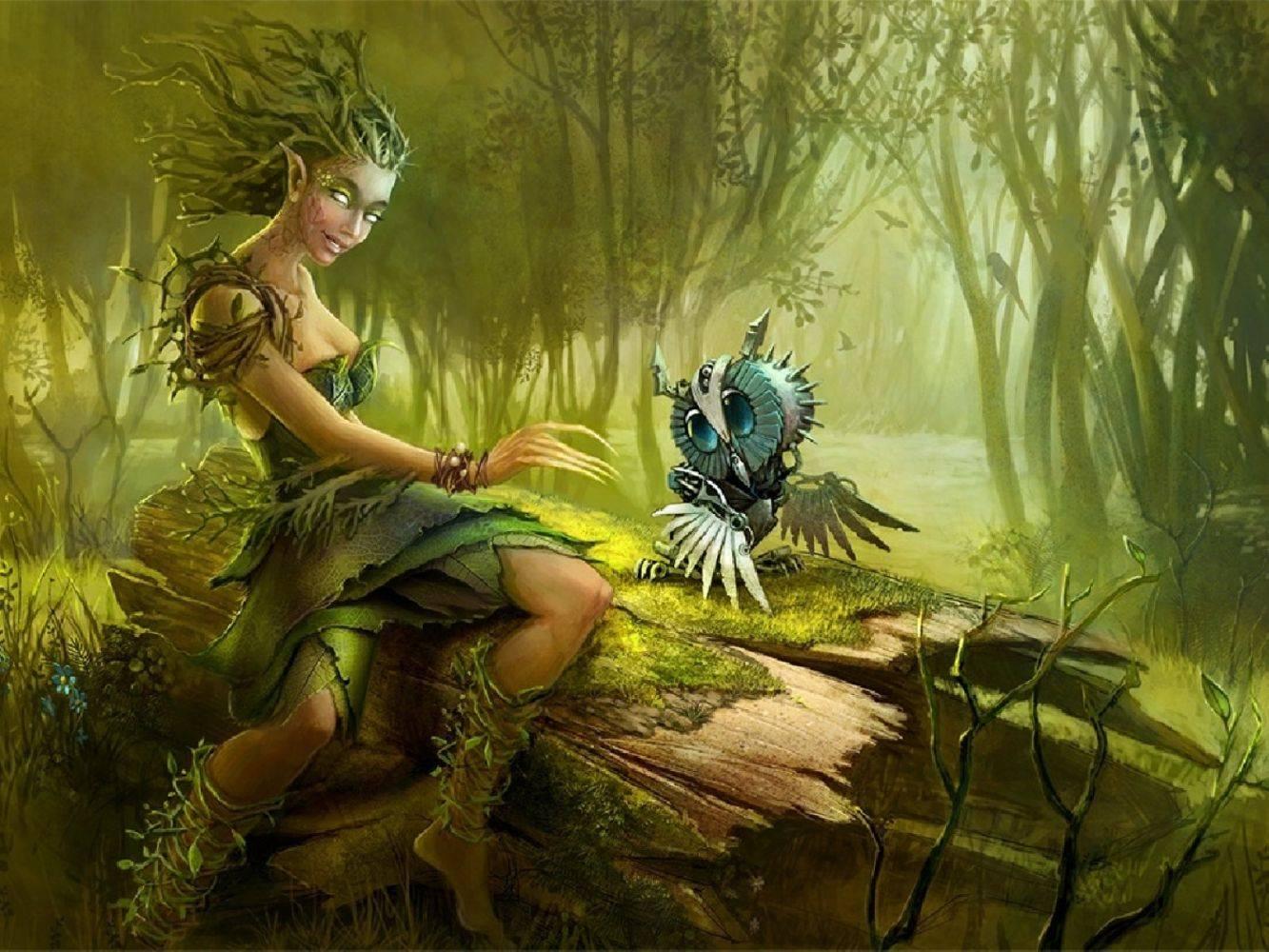 Дриады — обитательницы священных рощ и лесов. дриады дриады были только в греции