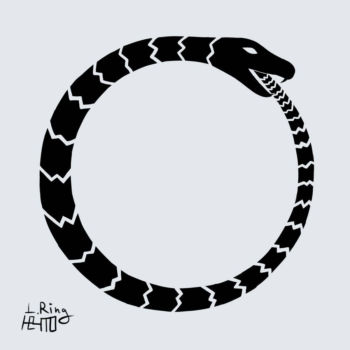 Уроборос — змея, кусающая себя за хвост