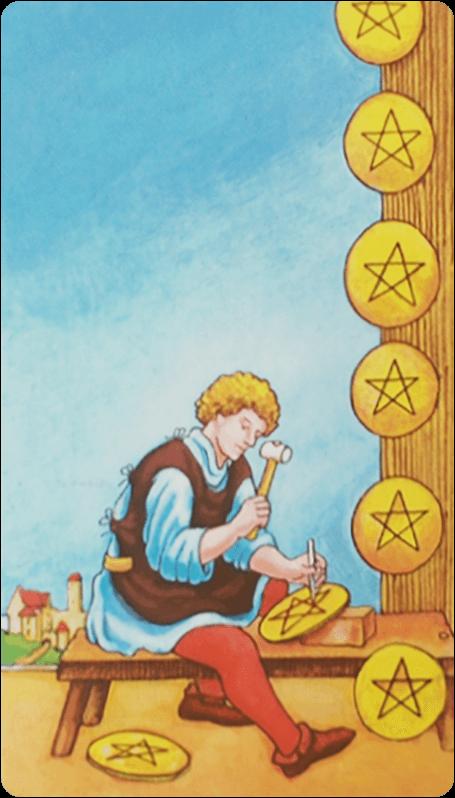 2 (двойка) пентаклей (монет) в картах таро: значение в любви, работе