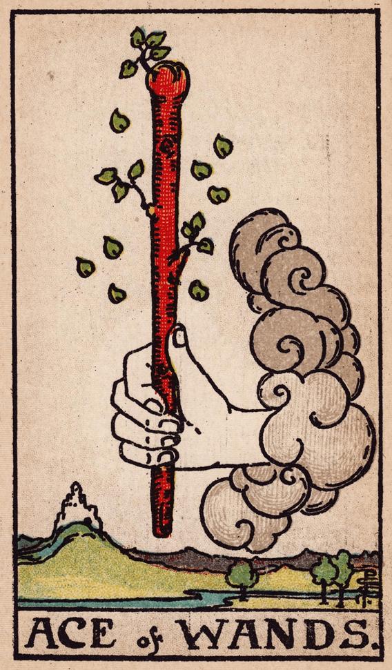 Значение карты таро — тройка посохов (жезлов)