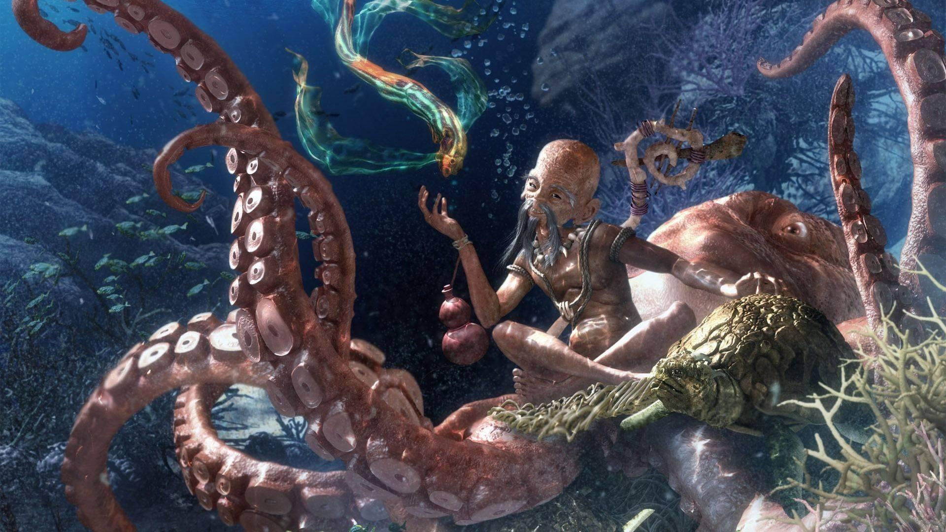 Морской кракен. кракен — легендарное чудовище из морских глубин