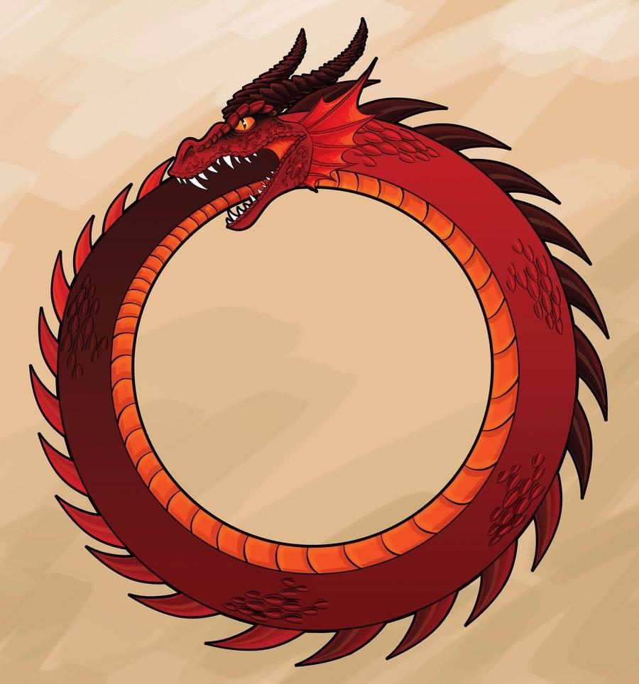 Змея, кусающая себя за хвост — уроборос: значение, история символа и оберега