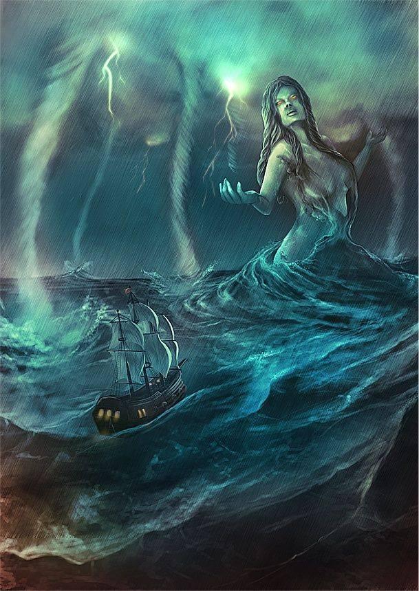Морская нимфа нереида. нереиды — морские сестры из греческой мифологии. эхо и нарцисс