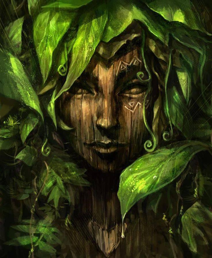 Зеленые дамы — фейри, живущие в деревьях