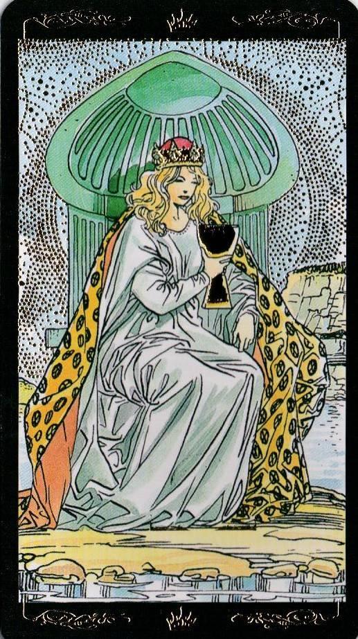 Королева кубков таро: значение карты, толкование дамы чаш в раскладах о карьере и отношениях
