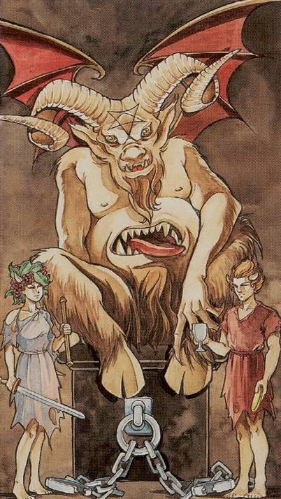 Дьявол таро 78 дверей: общее значение и описание карты