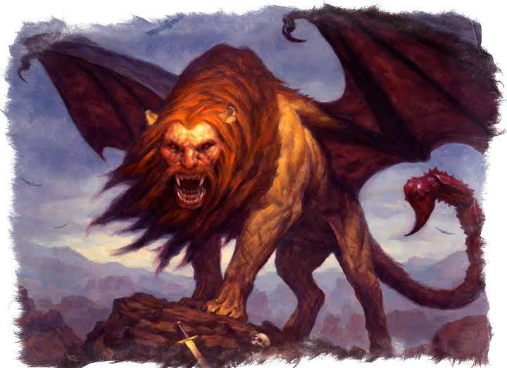 Лев с крыльями и хвостом скорпиона. мантикора в древней мифологии и современном мире. мантикора в средневековье