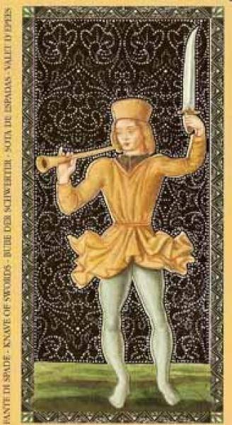 Значение аркана паж мечей в таро: прямое и перевернутое положение