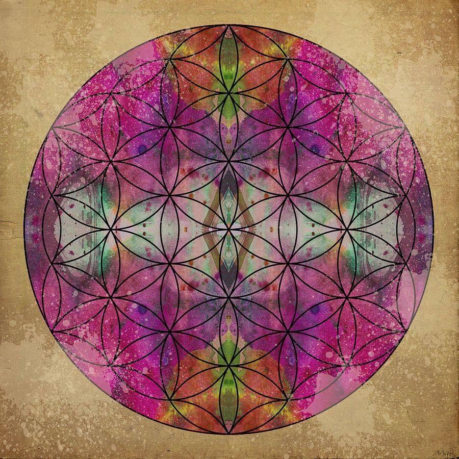 Мандала цветок жизни исполнения желаний - значение цветов