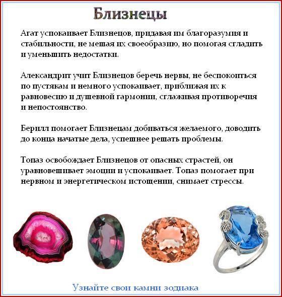 Как выбирать камни по знакам зодиака и по дате рождения